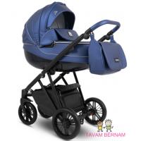 Camarelo Zeo Eco 2-1 ZeoEco-3 (Eko āda tumši zila) bērnu universālie rati